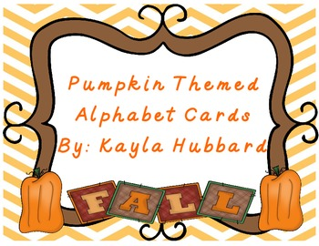Pumpkin Themed Alphabet Cards for Fall
