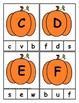 Pumpkin Themed Alphabet Clip Cards