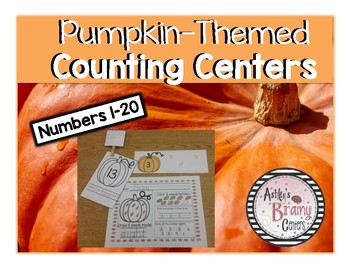 Pumpkin-Themed Counting Centers (Numbers 1-20)