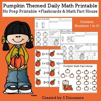 Pumpkin Themed Daily Math