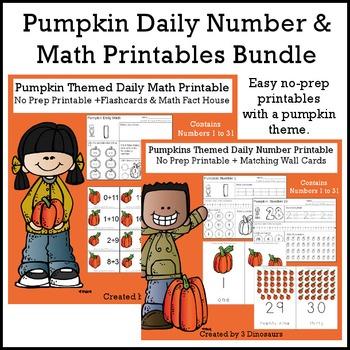 Pumpkin Themed Daily Numbers & Math Bundle