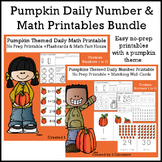 Pumpkin Themed Daily Numbers & Math Bundle