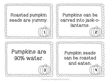 Pumpkin Themed Fact & Opinion Scoot