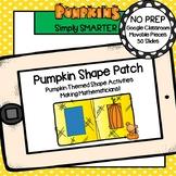 Pumpkin Themed Flat Shape Activities For GOOGLE CLASSROOM