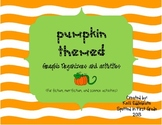 Pumpkin Themed Graphic Organizers and Activities