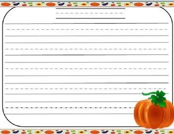 Pumpkin Themed Handwriting Paper