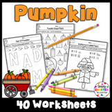 Pumpkin Themed Kindergarten Math and Literacy Worksheets and Activities