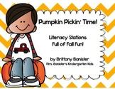 Pumpkin Themed Literacy Station Pack