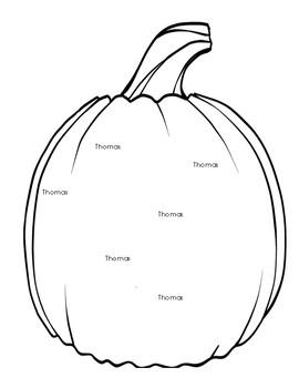 Pumpkin Themed Literacy and Math Center Bundle