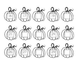 Pumpkin Themed Math Booklet