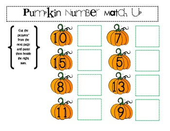 Pumpkin Themed Math Booklet