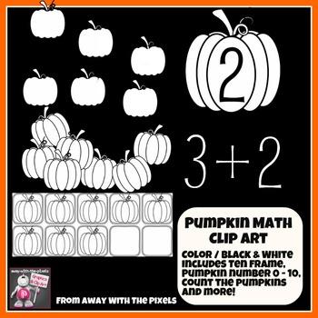 Pumpkin Themed Math Clip Art Set - Color and Blacklines!