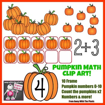 Pumpkin Themed Math Clip Art Set - Color and Blacklines!