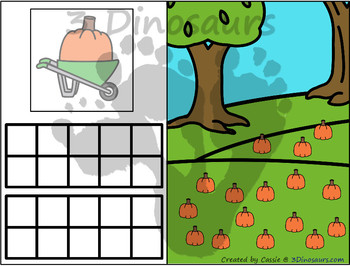 Pumpkin Themed Number Counting Mats