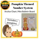 Pumpkin Themed Number System Anchor Chart / Mini Bulletin Board