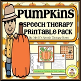 Pumpkin  Speech Therapy Printable Pack