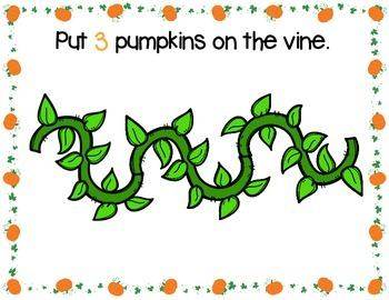 Pumpkin Play Dough Counting Mats