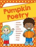 Pumpkin Themed Poetry Unit - Fall Creative Writing