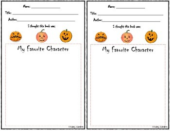 Pumpkin Themed Reader Response Bundle