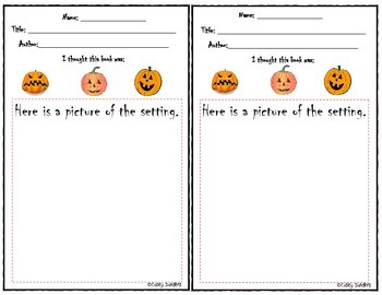 Pumpkin Themed Reader Response Bundle
