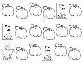 Pumpkin Themed Reading Game - blank template