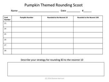 Pumpkin Themed Rounding Scoot!