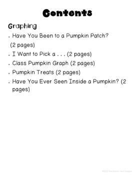 Pumpkin Science, Math, Writing and Language Arts