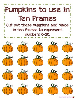 Pumpkin-Themed Ten Frames (1-20) - Aligned with Common Core Standards
