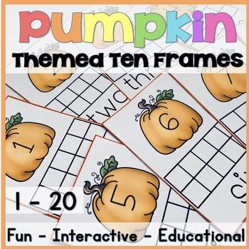 Pumpkin Themed Ten Frames(Numbers 1 - 20)