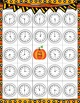 Pumpkin Time!  A Fall Themed Telling Time BINGO Bundle