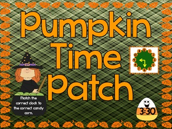 Pumpkin Time Patch (Telling Time)