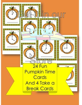 Halloween Math For Telling Time to the Hour and Half Hour