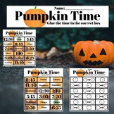 Pumpkin Time - Tell time and Measure Time Intervals