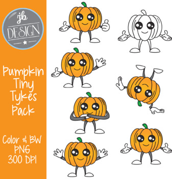Pumpkin Tiny Tykes (JB Design Clip Art for Personal or Commercial Use)