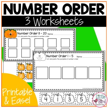 Pumpkin Trace, Write and Count Worksheet Set, Numbers 1 - 20