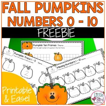 Pumpkin Trace, Write and Count Worksheet Set Sample - 4 worksheets