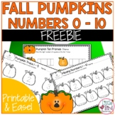 Pumpkin Trace, Write and Count Worksheet Set Sample - 4 wo