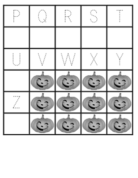 Pumpkin Trace and Write Alphabet Precious Preschoolers Halloween Harvest