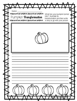 Pumpkin Transformation Freebie