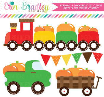 Pumpkin Transportation Clipart