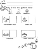 Pumpkin Treats Response Sheet
