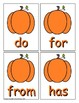 Pumpkin Trick Word Recognition Center or Whole Group Game for Level 1