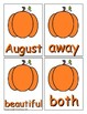 Pumpkin Trick Word Recognition Center or Whole Group Game for Level 2