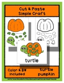 Pumpkin Turtle - Cut & Paste Craft - Super Easy perfect fo