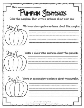Pumpkin Types of Sentences