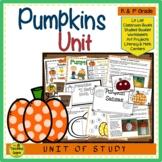 Pumpkin Unit: Activities & Centers