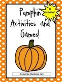 Pumpkin Unit Games and Activites