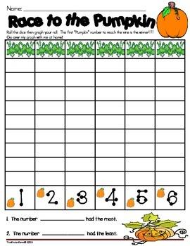 Pumpkin Unit Math Graphing Center Activities