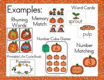 Pumpkin Unit- Math, Literacy, and SO Much More!
