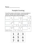 Pumpkin Unit - Pumpkin Math for Kindergarten